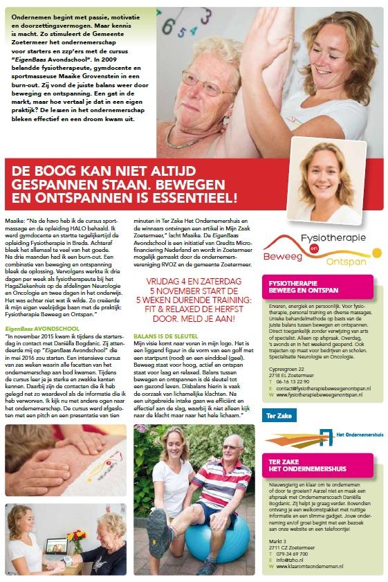 Fysiotherapie Zoetermeer artikel