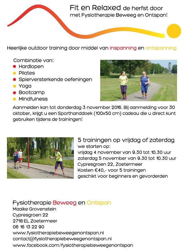 Groepstraining Zoetermeer