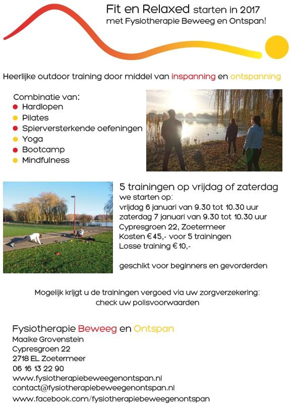 Groepstraining buiten outdoor Zoetermeer