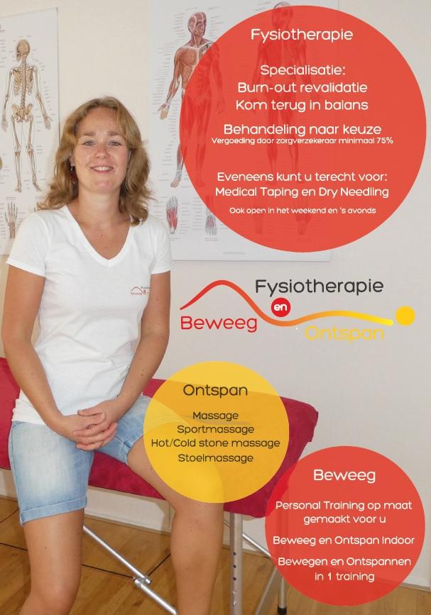 Flyer Fysiotherapie Beweeg en Ontspan Zoetermeer Rokkeveen