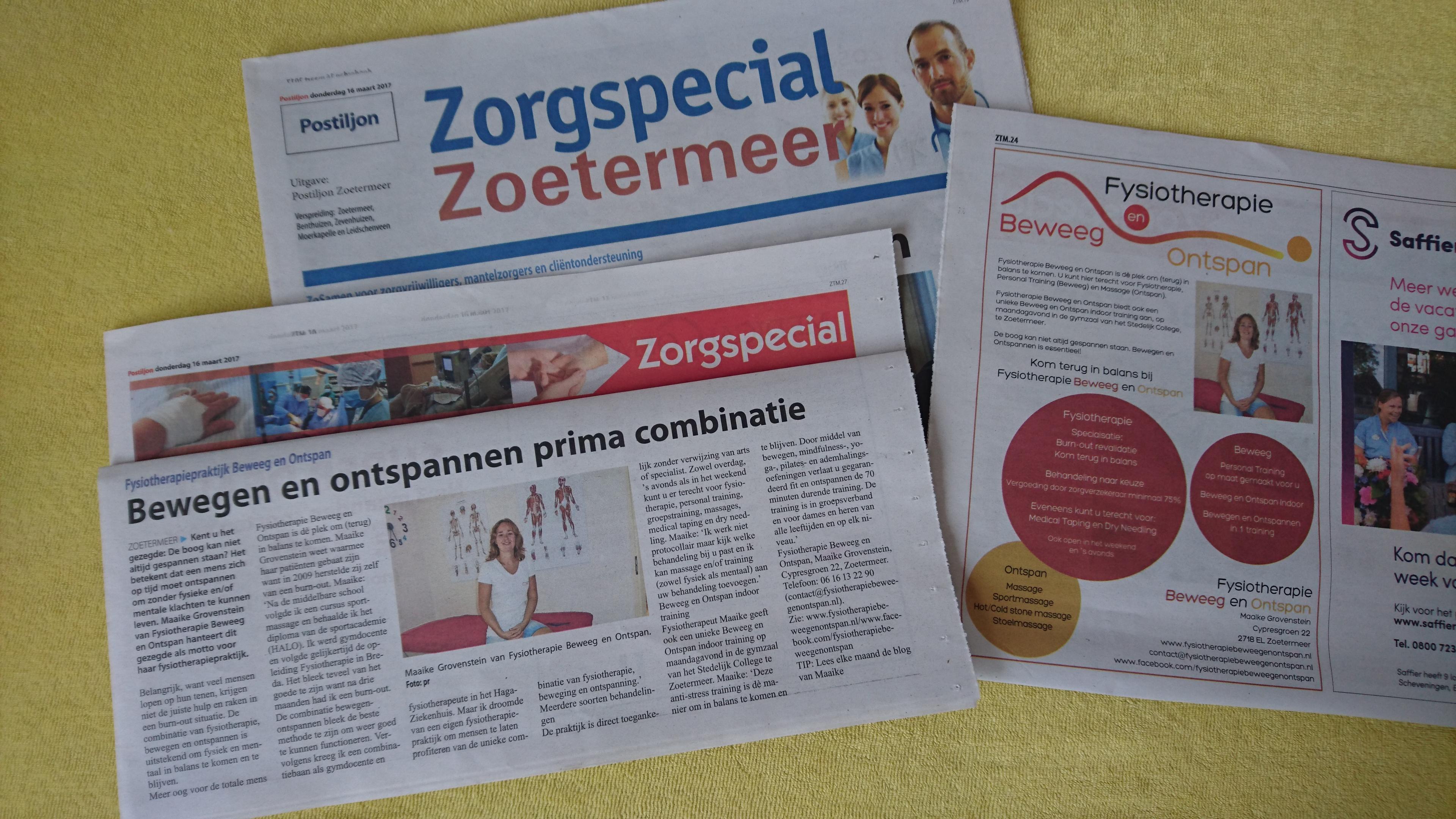 Zorgspecial Fysiotherapie Zoetermeer