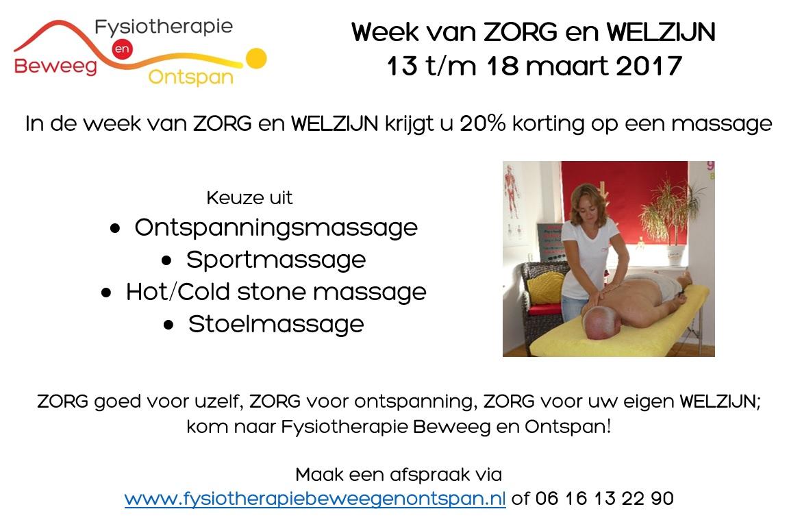 Week van Zorg en Welzijn actie