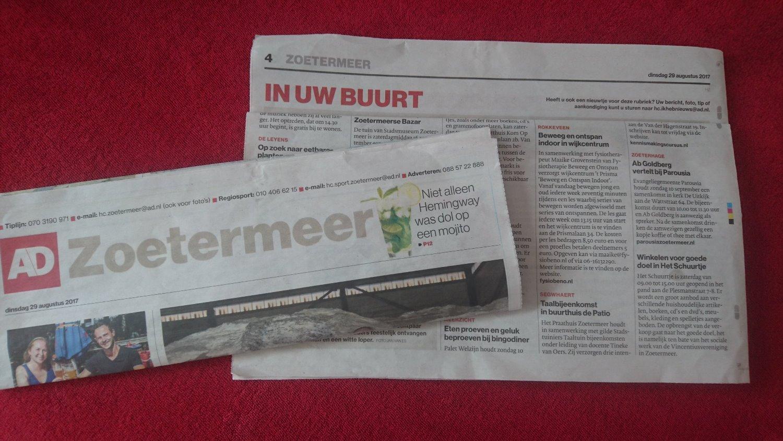 Algemeen Dagblad Zoetermeer Fysiotherapie