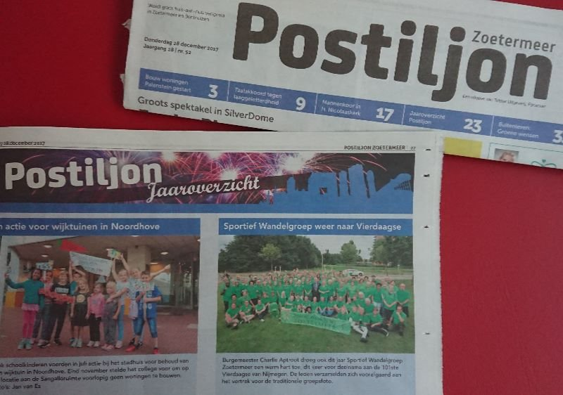 Sportief Wandelgroep Zoetermeer postiljon