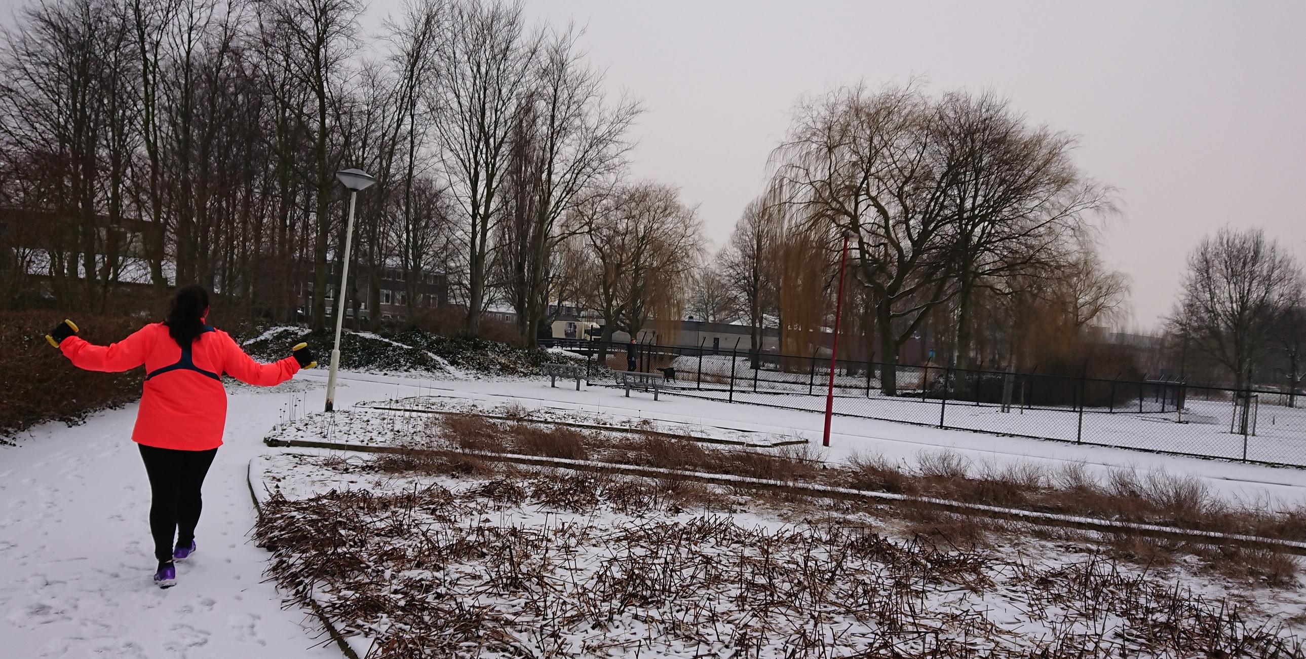 Personal training in de sneeuw in Zoetermeer