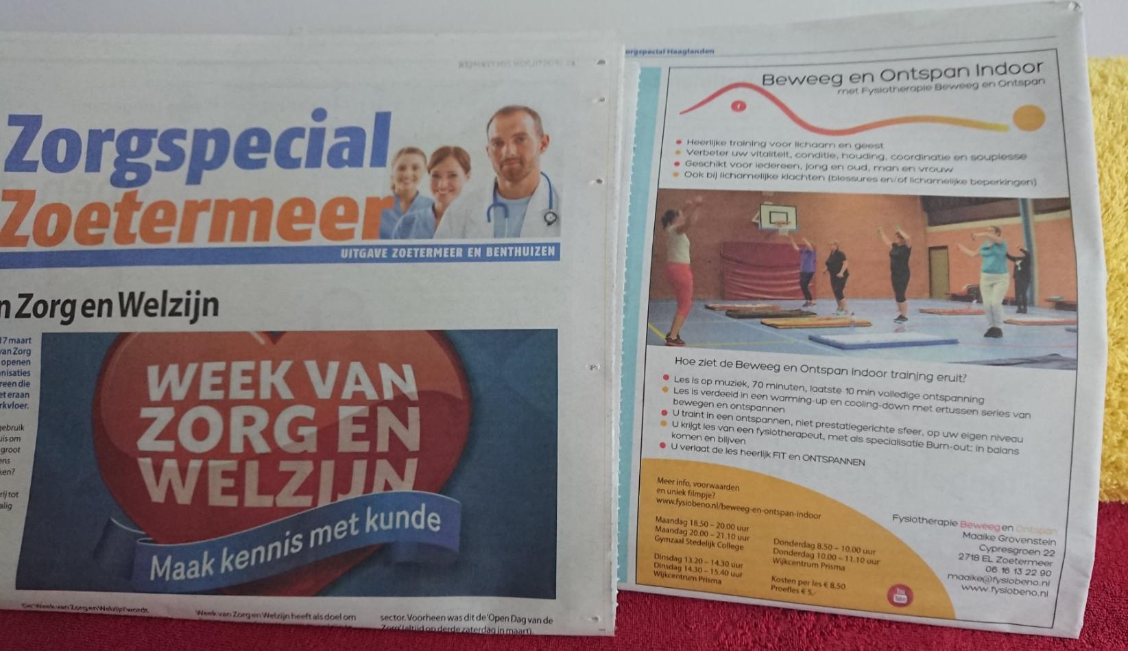 Postiljon Zoetermeer Zorgspecial fysiotherapie